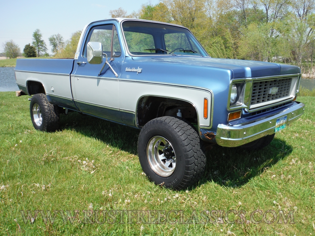 All Chevy 74 chevy : 1974 Chevy k20 3/4 tom 4x4 regular cab, custom deluxe, 74